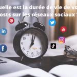 Quelle est la durée de vie d'un post sur les réseaux sociaux?