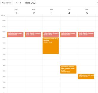 google calendar calendrier éditorial 1