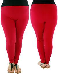 953e57d7b41 Women s cotton plus size leggings-Red. - Sefbuy