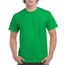 Plain round-neck tshirt-Green
