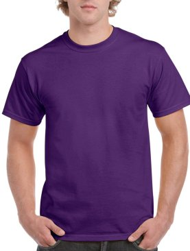 Men's short sleeved round neck t shirt-Purple.