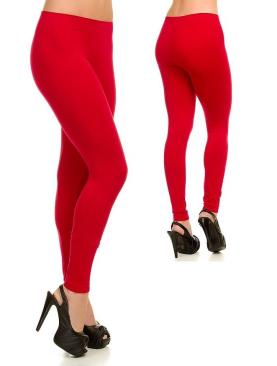 Women's cotton leggings-Red.