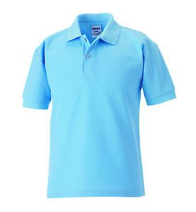 Men's plain polo t shirt-Light Blue.