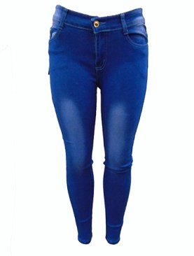 Women's fancy denim jeans-Blue.