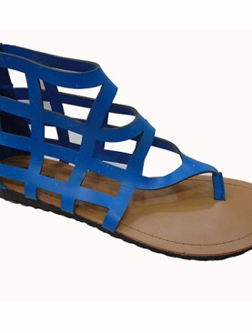 Women's gladiator open shoes-Light blue.