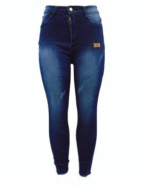 Women's fancy denim jeans-Blue.