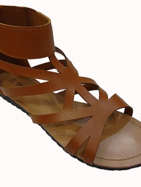 Women's classy gladiator shoes-Brown.