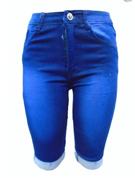 Women's fancy short jeans-Blue.