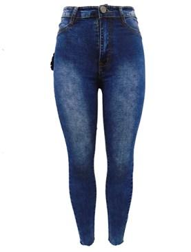 Women's classy denim pants-Blue.
