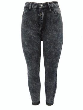 Women's stylish jean trousers-Grey.