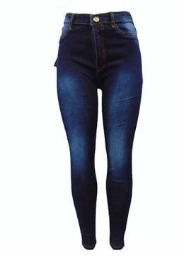 Women's fancy faded denim jean trousers-Blue.