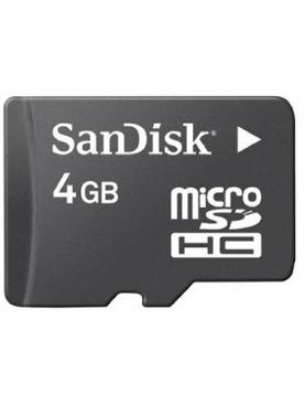 4GB SanDisk Memory card.