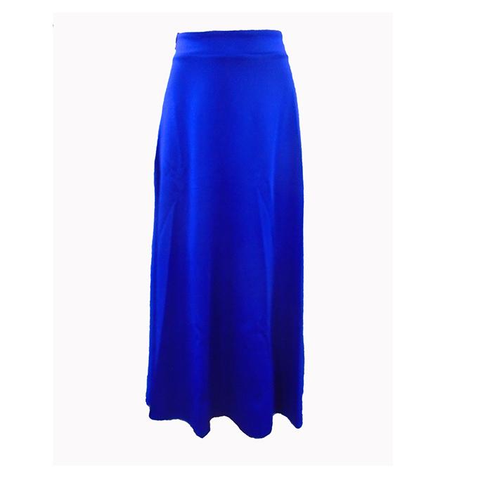 ea49ac7c86 Women's plain long skirt-Royal Blue. No ratings yet.