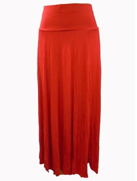 Women's long Red round skirt