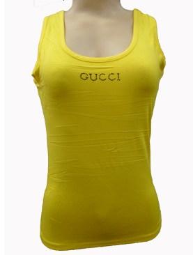 Women's sleeveless vests-Yellow.
