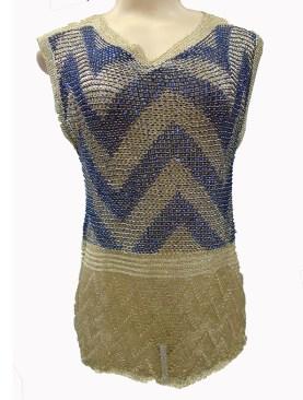 Women's classy sleeveless tops-Black&Gold.