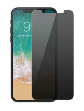 I Phone X -(X)-Privacy tempered glass protector.