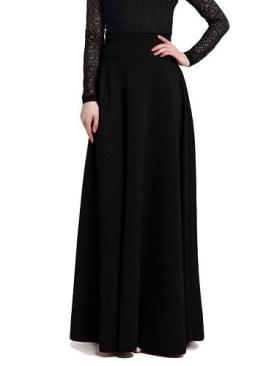 Ladies long skirt-Black.