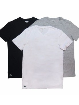 Men's 3 Pack cotton undershirts-White,Grey,Black.