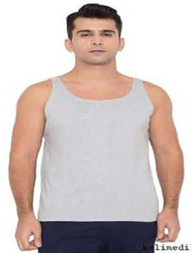 Men's high quality pure cotton vests-Grey.