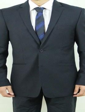 Men's classic two button suit-Navy Blue.