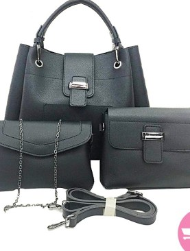 3 pack women's hand bags-Black.