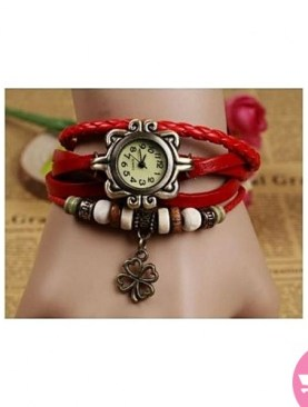 Sexy bracelet watch for ladies-Red.