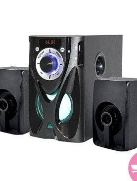 2 channel Global star luminous speakers with woofer-Black.