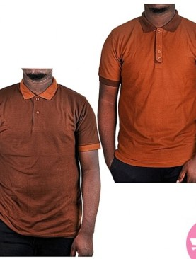 Two Pack Polo T-Shirts - Brown,Chocolate Brown.
