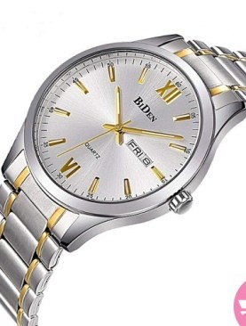 Men's analog watch-Silver.