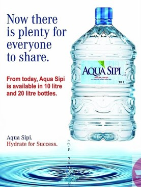 Aqua sipi packed drinking water-10Ltr