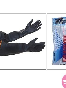 Long chemical resistant gloves - Black