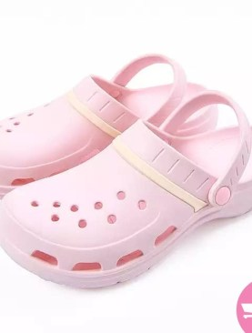 Slip on mule plastic shoes -pink