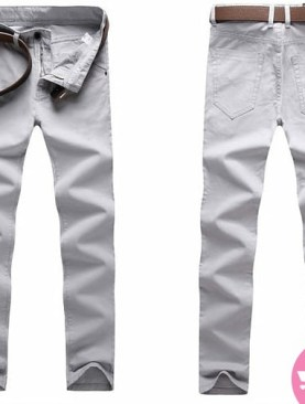 Men's khaki trousers -white