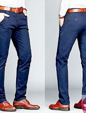 Men's official khaki trousers -blue