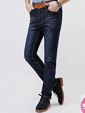 Casual men's blue jeans