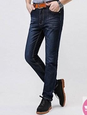 Casual men's blue jeans