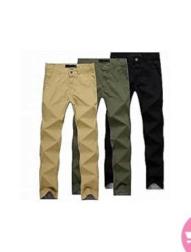 Men's 3 pack khaki trousers