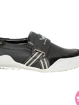 Men's casual shoes - black and white