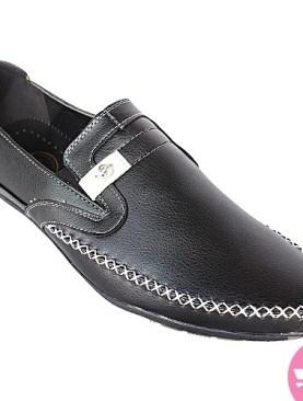 Men's slip on moccasins - black