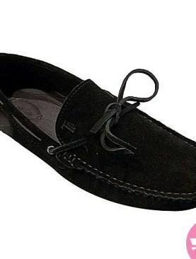 Men's suede mocassin shoes- black