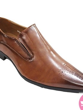 Men's gentle tassel shoes-brown