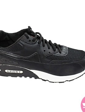 Men's sport sneaker shoes- black and white