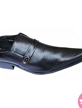 Men's sharp pointed gentle shoes- black