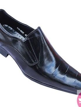 Men's crocodile skin shoes - black