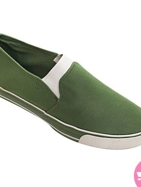 Men's casual shoes- green and grey