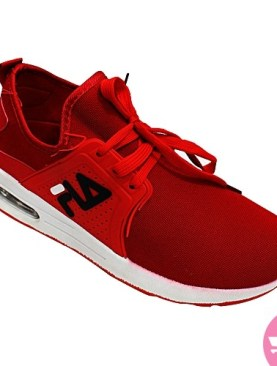 Men's fila lace up sneakers - red and white