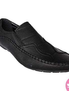 Men's mocassin shoes- black
