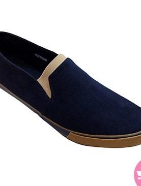 Men's casual shoes - navy blue