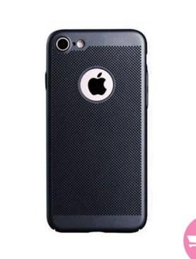 Mesh Dissipating Heat Fingerprint Resistant Hard PC Shockproof Back Case For iPhone 6 - Black